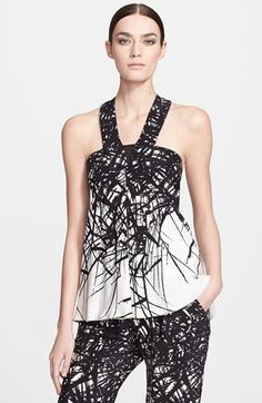 Yigal Azrouël Branc Print Silk Top available at #Nordstrom