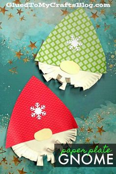 Paper Plate Bearded Christmas Gnome - Glued To My Crafts Preschool Christmas, Christmas Paper, Christmas Activities, Kids Christmas, Christmas Gnome, Christmas Crafts Paper Plates, Christmas Crafts For Kindergarteners, Christmas Projects For Kids, Paper Plate Crafts For Kids