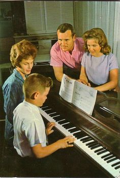 family piano l960ies, via Flickr.