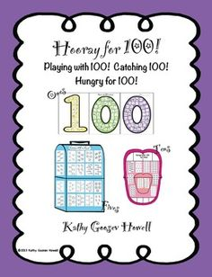 100 days is a perfect time to practice math skills; counting by ones, fives, and tens to 100. $