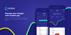 Nice way of using a design element from a screen on the homepage | MyWallet UI Design | Abduzeedo Design Inspiration