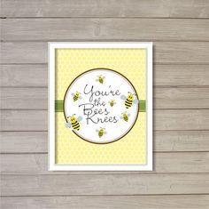 You're the Bee's Knees  8x10  Bumblebee Honey Bee by FebruaryLane, $3.95