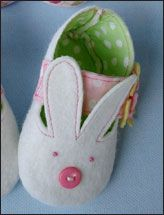 Bunny & Plain Shoes with Fabric Strap