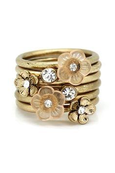 Multi-Flower Ring Set by Eye Candy Los Angeles on @HauteLook