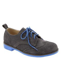 Little Style: Gap Boys Contrast Oxford Suede Shoes