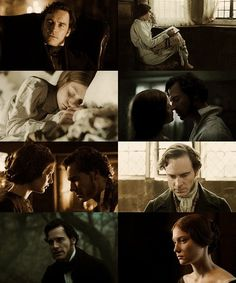 Michael Fassbender (Mr. Edward Fairfax Rochester) & Mia Wasikowska (Jane Eyre) - Jane Eyre (2011) #charlottebronte #caryfukunaga #fanart