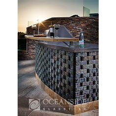 Casa California Surfliner liner, BBQ, outdoors, backyard, surf, wave, pattern - isn't this tile different? neat!