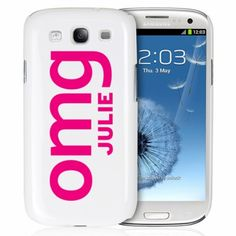 Personalised OMG Slogan Samsung S3 Case