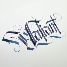 Valiant. #makedaily #calligraphy #calligraffiti #calligritype #typographyinspired #blackletter #inking #ink #Blackletter #Fraktur #lettering #pilotparallelpen #handstyles #thedailytype #caligrafia #graffiti #showusyourtype #graphicdesign #goodtype #typedaily #typespire #handmadefont #art
