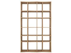 Ethnicraft - Z Rack Eg - reol / rumdeler i eg hos BoShop Bookcase Shelves, Shelving, Armoire, Standing Shelves, Modern Contemporary Homes, Burke Decor, Fun At Work, Solid Oak, Natural Wood