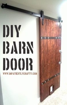 DIY:  Barn Door Tutorial - made from 2x6 pine.  This is a budget friendly project! by gabrielle
