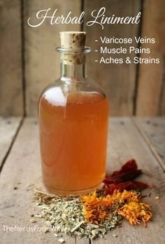 Herbal Liniment Recipe for Varicose Veins, Muscle Pains & Strains