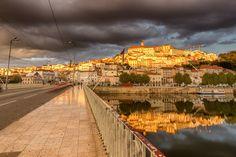 "Coimbra City of Knowledge - Coimbra photographed from ""Santa Clara"" bridge after heavy rain."