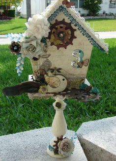 Altered Birdhouse made by Lynjea from scrapbook.com