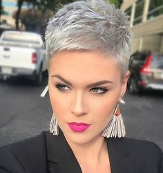 Today we have the most stylish 86 Cute Short Pixie Haircuts. We claim that you have never seen such elegant and eye-catching short hairstyles before. Pixie haircut, of course, offers a lot of options for the hair of the ladies'… Continue Reading → New Short Hairstyles, Short Pixie Haircuts, Trendy Haircuts, Hairstyle Short, Short Pixie Cuts, Pixie Haircut Styles, Blonde Pixie Cuts, Bob Hairstyles, Haircut Short