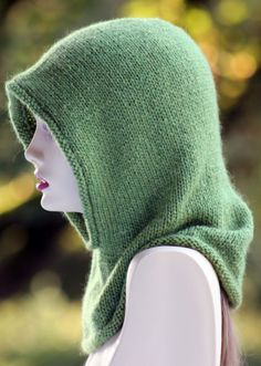Free Knitting Pattern for Friend of the Forest Hood