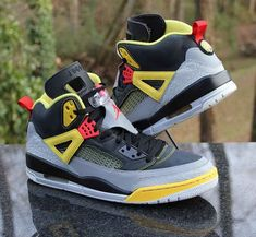 buy online a5fa8 34975 Nike Air Jordan Spizike Metallic Silver Black Yellow 315371-050 Men s Size  13  Jordan