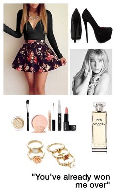"""""""#IMissMyEx"""" by jamzm ❤ liked on Polyvore featuring Shoe Republic LA, Chanel and Forever 21"""