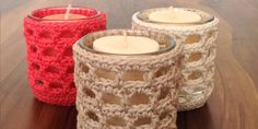Candle Holder Cozy   free crochet pattern   Craftsy