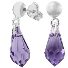 Cercei eleganti cu cristale swarovski mov http://www.bijuteriifrumoase.ro/cumpara/cercei-cu-cristale-mov-drop-p-13-frepin-1873