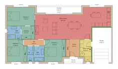 Lilas - Maisons Clairlande Bungalow House Design, Porche, Floor Plans, Projects, Home Plans, Ideal House, Grand Opening, Flat Roof, Bay Windows