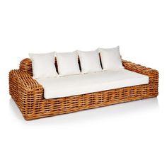 Outdoor-Sofa, inkl. Auflagen Vorderansicht