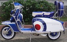 Nice Lambretta with Mod target livery Lambretta Scooter, Scooter Motorcycle, Vespa Scooters, Scooter Images, Custom Vespa, Vespa Ape, Motor Scooters, Electric Bicycle, Cool Bikes