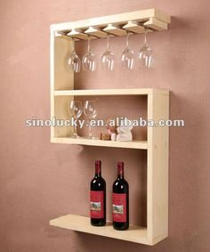Could I have told you that you could get woodworking projects in your hands? got said handed had Wine Glass Rack, Wood Wine Racks, Wine Rack Design, Wine House, Bois Diy, Woodworking Projects That Sell, Wine Storage, Wall Shelves, Glass Shelves