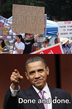 arrested development, obama. done and done.