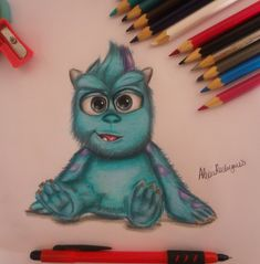 Baby Sulley by AlexiaRodrigues.deviantart.com on @DeviantArt