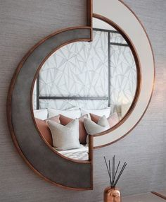 Surprising Cool Ideas: Wall Mirror Entry Ways Entrance wall mirror ideas projects.Wall Mirror Dining Home Decor modern wall mirror ceilings.Wall Mirror Dining Home Decor. Mirror Wall Collage, Lighted Wall Mirror, Wall Mirrors Set, Rustic Wall Mirrors, Living Room Mirrors, Wall Mirror Ideas, Mirror Shelves, Mirror Set, Dresser Shelves
