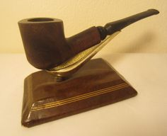 Vintage Antique Half Bent Dublin Billiard Estate Briar Tobacco Smoking Pipe