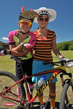 burry and cherise all fancy-dressed up and relaxed before the start of the 2012 singlespeed world champs in winterton, south africa. which burry went on to win. photo: dino lloyd