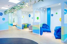 View full picture gallery of Toronto Sick Kids Children Hospital Boomerang Health Centre Clinic Design, Medical Design, Children's Clinic, Kindergarten Design, Dental Office Design, Design Offices, Office Designs, Interior Design Portfolios, Early Childhood
