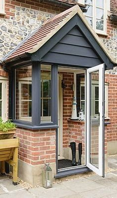 Front porch extension ideasFront porch extension Awesome Oak Front Door So Your House Looks Simple But Awesome Oak Front Door So Your House Looks Simple But Beautiful homedecorideas doordecorations homedesignonabudgetTHIS Is the Right Front Porch Design, Porch Uk, Porch Canopy, Entrance Porch, Cottage Porch, Porch Doors, House With Porch, Building A Porch, Brick Porch