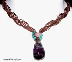 Recent macrame jewellery collection by Ambermoon Designs ~ Macrame Necklace ~ Inspiration