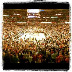Bulls v Heat 3/14/2012 this is why the United Center is called the Madhouse on Madison