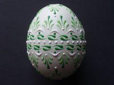 Satz von 3 dekorierten grün huhn Eier Drop Pull von EggstrArt