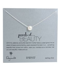Dogeared Large Pearls of Beauty White Pearl Necklace, Sterling Silver 18 inch