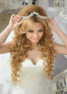 Wedding hair styles. Loce the ringlets