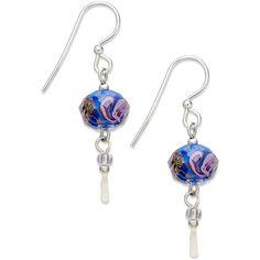 Jody Coyote Sterling Silver Earrings, Blue Flower Bead Drop Earrings ($18) ❤ liked on Polyvore featuring jewelry, earrings, no color, blue bead earrings, drop earrings, sterling silver earrings, jody coyote earrings and flower earrings