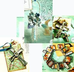 Pretty Little Things Collage Jewelry Trinkets by TheAtticofKitsch Little Things, Pretty Little, Steampunk, Gothic, Collage, Gift Wrapping, Unique Jewelry, Handmade Gifts, Vintage