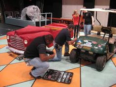 """For my middle school production of """"Grease"""" a couple years ago, I rented a scale styrofoam car shell from John Saari at Greensboro Colle. Grease Broadway, Grease Musical, Grease Movie, Homecoming Floats, Homecoming Week, Cabaret, Grease Play, Grease 2016, Grease Lightening"""