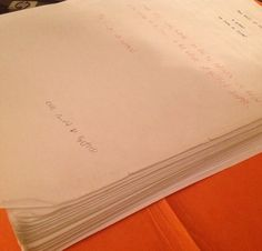 So this is what a 100 page novel... A 100 page manuscript looks like?  I've waited so long for this day, to finally see what it would look like.  I'd never known it'd be so beautiful.