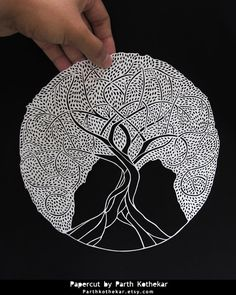 Papercut - Tree of life - Papercutting - Paper art by ParthKothekar.deviantart.com on @DeviantArt