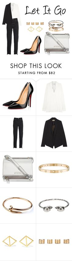 """Let It Go"" by anaelle2 ❤ liked on Polyvore featuring Christian Louboutin, Vince, Vetements, Chloé, Givenchy, Cartier, Alexander McQueen, Arme De L'Amour and Maison Margiela"
