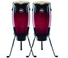 Meinl Headliner Wine Red Burst 10 & 11 wood Conga Set by Meinl Percussion. $349.99. Amazon.com                The 10-inch & 11-inch pair of Headliner wood congas is the perfect set to get you started. The compact size is easy for young players to handle, light to carry and has a full, rich sound. You can develop a full foundation of conga techniques and rhythms with these student-friendly drums.                             HC555 Wood Conga Features    28 inche...