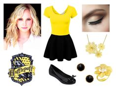 """Hufflepuff"" by isabelariana1112 ❤ liked on Polyvore featuring Melissa, Arabel Lebrusan, Carrera y Carrera, Rivka Friedman, women's clothing, women, female, woman, misses and juniors"