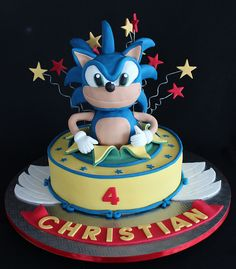 Sonic The Hedgehog Birthday Cake by Creative Hands Inspired Mind, via Flickr