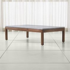Parsons Grey Marble Top/ Elm Base 60x36 Large Rectangular Coffee Table |  Crate And Barrel